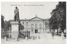 Gaillac Monument D' Hautpoul Et Mairie E. Doat, Rec,-Buraliste, Edit. - Gaillac