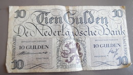 Billet 10 Gulden 1945 Pays Bas Nederland - 10 Gulden