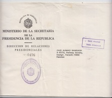 Venezuela Cover To Pakistan, Stamps, Official  (A-2599E) - Venezuela