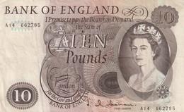 10 Pounds, Type Elisabeth II - 1952-… : Elizabeth II