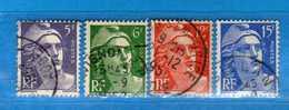 France °- 1951 - .Yvert. 883-884-885-886 . Obliterer. Vedi Descrizione. - Francia
