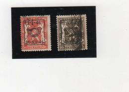 BELGIQUE   1936-46  Préoblitérés  Y.T. N° 418A  à  435  Incomplet  Oblitéré  419  420 - Typos 1936-51 (Petit Sceau)