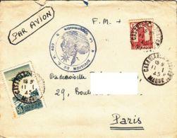 MAROC - 1945 - Lettre En Franchise Militaire Pour La France - SP 402 - Marokko (1891-1956)