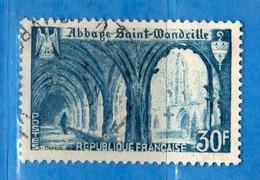 France °- 1951 - Abbaye De St-Wandrille.Yvert. 888 . Obliterer. Vedi Descrizione. - Francia