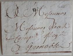 20121# LETTRE Obl D' AIX Lenain 5 Datée De 1756 BOUCHES DU RHINE PROVENCE - 1701-1800: Précurseurs XVIII