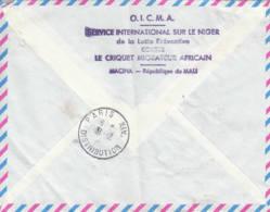 MALI - SOUDAN - 1961 -  Lettre Recommandée Par Avion Pour La France - Criquet Migrateur Africain - 2 Scans - Mali (1959-...)