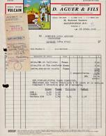 FACTURE D. AUGUER ET FILS - MANUFACTURE DE CHAUSSURES - MAULEON SOULE - AUCOURT - SAULIEU - 20 AVRIL 1960 - Francia