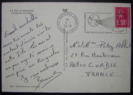 1978 Cachet Porte Hélicoptères Jeanne D'Arc Sur Carte De La Réunion Cirque De Cilaos - Marcophilie (Lettres)