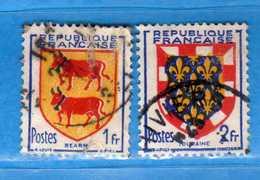 France °- 1951 - Yvert. 901-902 . Obliterer. Vedi Descrizione. - Francia