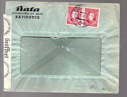 Nazi Censor 1941 Bata Shoe Factory Batiozovce (SL-3) - Slovénie