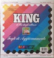 Fogli Aggiornamento Marini King Nuovi Imballati Italia Anno 2002 Compreso Fogli Per Libretti - Album & Raccoglitori