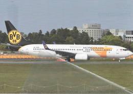 Mongolian Airlines BVB  B737-800W  JU-1015 At Narita, Tokyo - Ballspielverein Borussia 09 Dortmund - 1946-....: Era Moderna