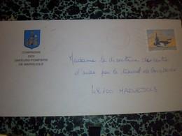 Document A Entète Publicitèe  Enveloppe Timbree  Sapeurs Pompiers De  Marvejol Lozère 27/03/04 - Publicités