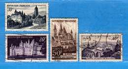 France °- 1952 - Yvert. 905-916-917-924 . Obliterer. Vedi Descrizione. - Francia