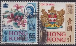 Hong Kong      .   SG  .    253a/254b     .    O   .    Cancelled      .   /    .   Gebruikt - Used Stamps