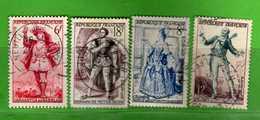 France °- 1953 - Yvert. 943-944-956-957 . Obliterer. Vedi Descrizione. - Francia
