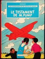 """Hergé - Le Stratonef H. 22 / 1er épisode - """" Le Testament De M. Pump """" - Les Aventures De Jo, Zette Et Jocko - Casterman - Jo, Zette & Jocko"""