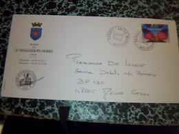 Enveloppe A Entete Mairie De Le Monastier Pin Mauries Lozere Datèe Du  12/12000 - Publicités