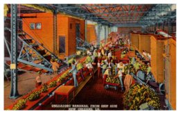 Louisiana New Orleans,  Unloading Bananas From Ship Side - Other
