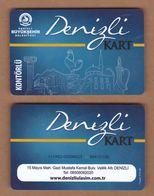 AC - MULTIPLE RIDE BUS PLASTIC CARD DENIZLI, TURKEY PUBLIC TRANSPORTATION - Transportation Tickets