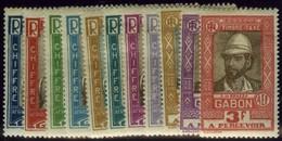 Gabon. Sc #J12-J22. Postage Due. * - Gabon (1886-1936)