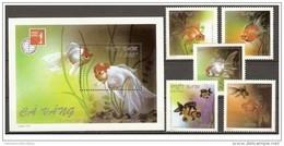 Vietnam Viet Nam MNH Perf Stamps & Souvenir Sheet 1997 : Goldfish / Fish (Ms747) - Fishes