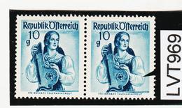 """LVT969 ÖSTERREICH 1948 MICHL 895 PLATTENFEHLER """"LOCH In BLUSE"""" ** Postfrisch - Abarten & Kuriositäten"""