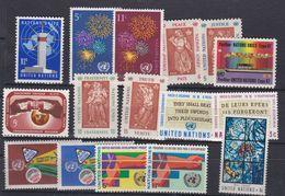 Nations Unies New-York N° 159 / 74 XX Année Complète 1967, Les 16 Valeurs Sans Charnière, TB - Ungebraucht
