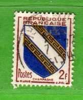 France °- 1953 -   Yvert. 953 . Obliterer. Vedi Descrizione. - Francia