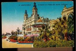 CPA MONTE CARLO N°77 LE CASINO ET LE THEATRE (CH. GARNIER Arch.) LL COLORISEE LEVY ET NEURDEIN REUNIS PARIS - Monte-Carlo
