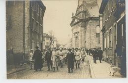 GUERRE 1914-18 - Belle Carte Photo Montrant G. CLEMENCEAU Et Le Curé DORNSTELLER Dans Les Rues De MASEVAUX En JUIN 1918 - Masevaux