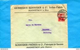 """MARCOPHILIE-Lettre-entier Postal-helvetia-enveloppe Privée Cad Madrets 1914-""""SCHNYDER Fres  Fabrique De Savons- - Entiers Postaux"""