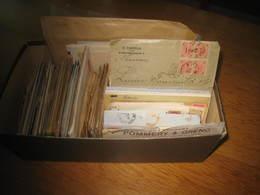 Boite Avec Documents 1890/1910 Tous Pays(maj Europe Du Nord )et Qlq France   Tous états 2 Kg - Marcophilie (Lettres)