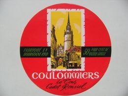 Etiquette Coulommiers - La Tour Cadet Roussel - Union Coopérative D'Auxerre 89D Bourgogne - Yonne  A Voir ! - Quesos