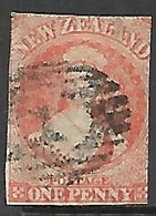 New Zealand   1862  Sc#11  1p  Used  Watermark Star 2016 Scott Value $300 - Used Stamps