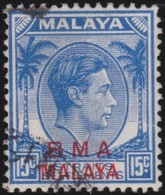 BMA Malaya   .   SG  .   12ba      .   O     .   Cancelled     .   /    .   Gebruikt - Malaya (British Military Administration)