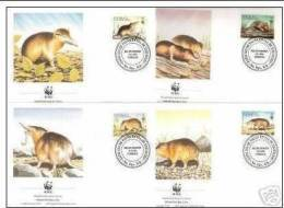 Republica Dominicana 1994 WWF W.W.F. FDC Set X4 FDC Hispaniolan Solenodon Fauna Rodents - FDC