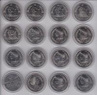 COLECCION COMPLETA DE 16 MONEDAS DE FRANCIA DE ECU DE EUROPA DE LOS AÑOS 1980 A 1995 NUEVAS - Francia