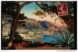 CPA MONTE CARLO N°176 VUE PRISE DE MONACO LL COLORISEE LEVY ET NEURDEIN REUNIS PARIS - Monte-Carlo