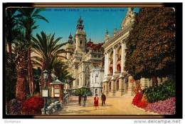 CPA MONTE CARLO N°236 LE CASINO (COTE SUD) RM ANIMEE COLORISEE 1930 MUNIER EDIT ART NICE - Monte-Carlo
