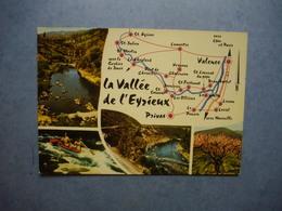 LA VALLEE DE L'EYRIEUX    -  07    -  Carte Géographique  -  Multivues  -   ARDECHE - Autres Communes