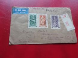 établissements Français Dans L'inde (1949) Lettre PONDICHERY A MARMANDE - India (1892-1954)