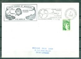 MARCOPHILIE - P.H. JEANNE D' ARC - FORBIN SAINT - PIERRE ET MIQUELON 11/13 AVRIL 80 Et Flamme Du 11 - 4 - 1980 - Poste Navale