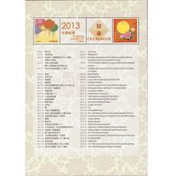 China 2013-1 To 2013-31 Stamp Catalogue Special Full S/S - 1949 - ... Repubblica Popolare