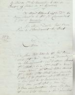 """Lettre à Bord Du """"Tirannicide"""" Du Chef De La Dion Des Armées Navales à Brest J. ALLEMAND Au Sujet D'un De Ses Marins  , - Documents Historiques"""