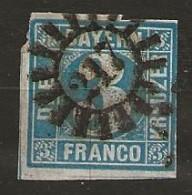 Timbre Bavière Yvert N° 2 - Bavière