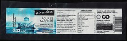 Portugal Etiquette Eau De Source Castelo Novo Pingo Doce 0,33 L. - Etiquettes