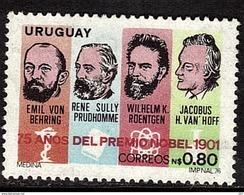 URUGUAY     N°  961 * *  Nobel   Hoff Roentgen Prudhomme Behring - Premio Nobel