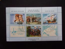 Cuba Voilier Ship Boat Colomb Santa Maria Nina Pinta Ferdinand Et Isabelle La Catholique - Bateaux