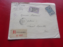 Devant De Lettre Salines De Djibouti DIEGO SUAREZ A SAINT MARCELLIN (isère)1928 - Madagascar (1889-1960)